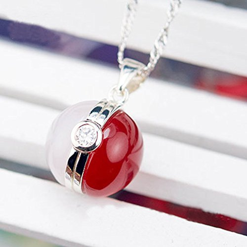 Sterling Silver Pokemon Ball Necklace