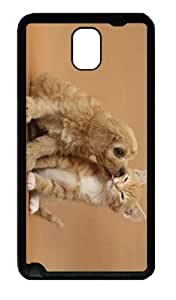 amazing covers kitty puppy love TPU Black case/cover for samsung galaxy note 3 N9000