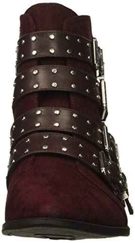 Hutton Edelman Fashion by Circus Burgundy Deep Boot Sam Women's Microsuede ZqEfEwxIa
