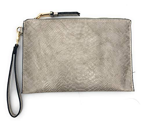 INC International Concepts I.N.C. Molyy Snake-Embossed Party Wristlet Clutch