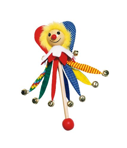 Goki Jester Wand Bellino Musical Toy with 9 Clamps