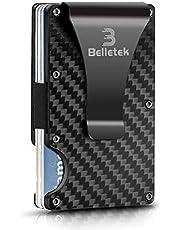 Belletek Carbon Fiber RFID Wallet/Money Clip/Wallet for Men-Credit Card Holder(1 pack)