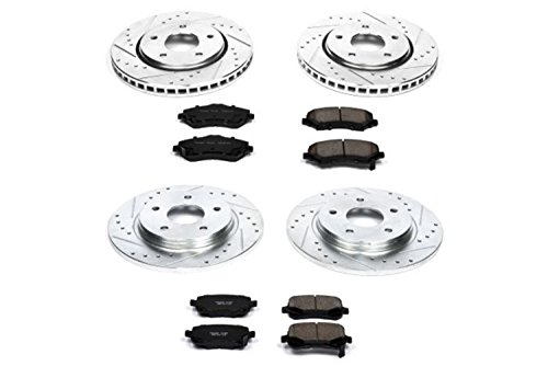 Power Stop K4015 Front and Rear Z23 Evolution Brake Kit with Drilled/Slotted Rotors and Ceramic Brake ()