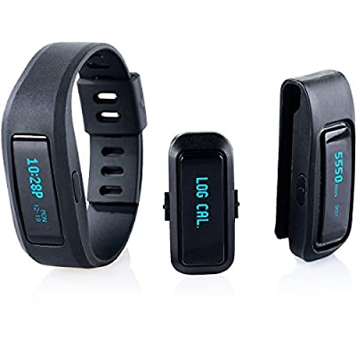 iFit Active 3-In-1 Fitness Sport Tracker Wristband Black IFITBAND-3IN1