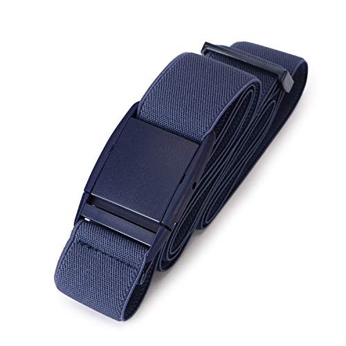 No Show Women Stretch Belt Invisible Elastic Web Strap Belt with Flat Buckle for Jeans Pants Dresses,Suit for US Size 0-16,2-Blue