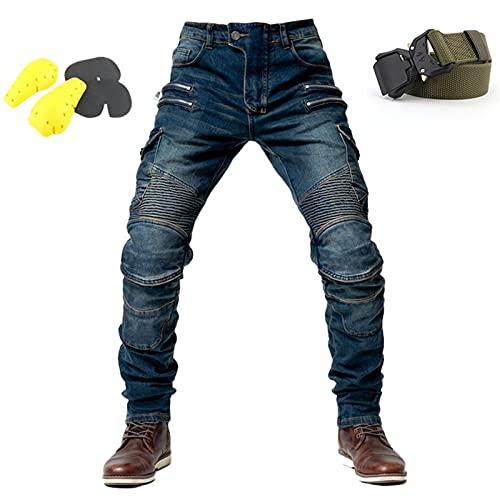 WWYL Motorradhose Für Herren,Herren-Schutzjeans, Sportliche Motorrad Hose Mit Protektoren Motorradhose, 4 X…