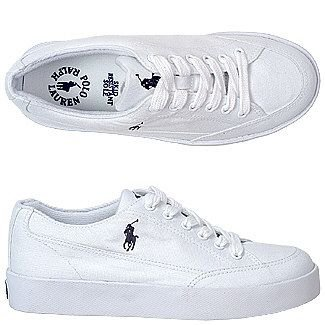 Polo Ralph Lauren Womens Brisbane White Canvas Casual Shoes 10