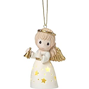 Precious Moments with Porcelain Ornaments,Figurine and Metal Rotating Angel Lantern 96