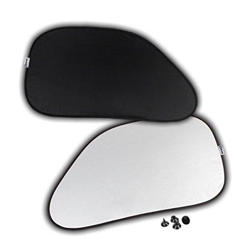 Zento Deals 2pcs Black Polyester Car Auto Side Window Sunshade