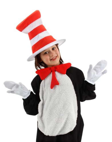 Cat In The Hat Halloween Costume (Dr. Seuss Cat in the Hat Kids Accessory Kit by elope)