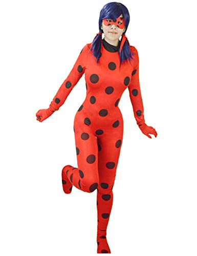 (DAZCOS Women's Red Ladybug Costume Adult Cosplay Jumpsuit)