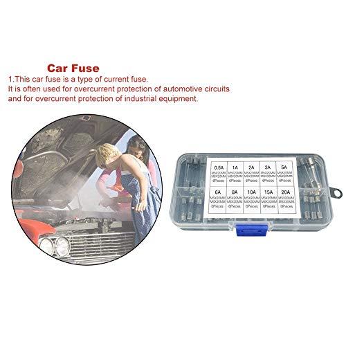 20A 6A 5A 10A 2A 3A 8A 1A 15A gfjfghfjfh 60pcs 5x20mm 6x30mm Rapide fusible Tube en Verre fusible Assorti kit Mixte Tube dassurance 0.5A