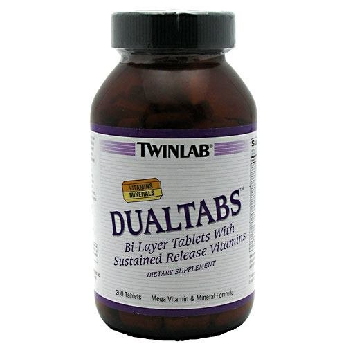 Twinlab DualTabs Mega витаминов и минералов Формула, 200 таблеток