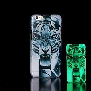 GX tigre patrón resplandor en el caso duro para el iphone oscuro 6 más