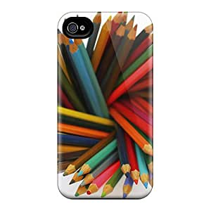Iphone Case - Tpu Case Protective For Iphone 4/4s- Colorful Pencils
