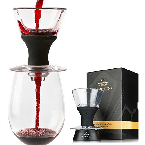 Redevino Luxury Wine Aerator Decanter set With Glass Stand Premium Gift