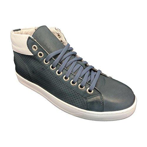Exton , Herren Sneaker weiß Bianco 39 EU Marineblau
