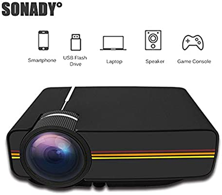 1200 lúmenes Proyector LED de Cine en casa portátil 1080P Video ...