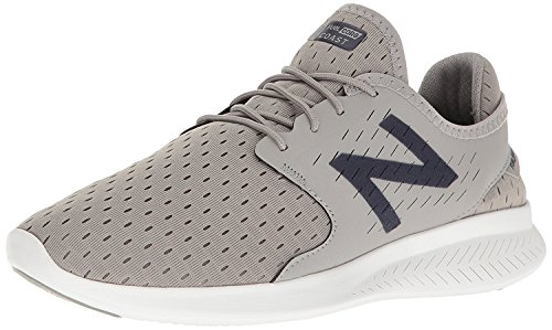 New Balance Mens Coast V3 Running-Shoes, Grey/Navy, 42 EU/8 UK