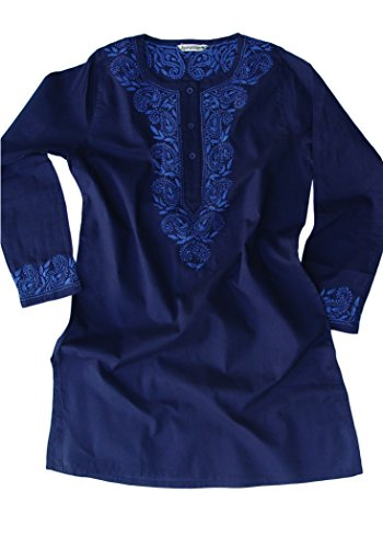 AV-Aditi-Pure-Cotton-Hand-Emb-Tunic-Blue-on-Navy-16W