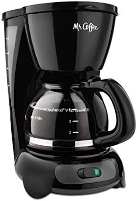 Mr. Coffee Simple Brew 4-Cup Switch Coffee Maker, TF Series black