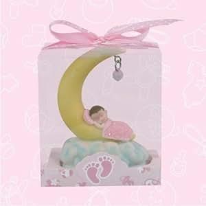 12 baby shower baby girl sleeping on moon favor in box