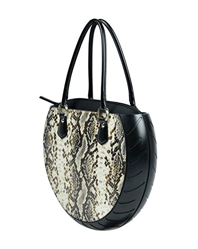 Borsa Ty's Bag PyThon colore maculato in ecopelle e gomma made in Italy