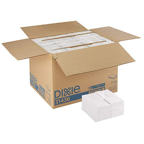 Dixie 1/8-Fold 2-Ply Dinner Napkin (Previously Preference) by GP PRO (Georgia-Pacific), White, 31436, 100 Napkins Per Pack, 30 Packs Per Case (Renewed)
