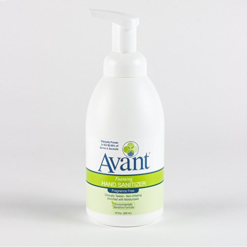 Avant Foaming Fragrance-Free Instant Hand Sanitizer (18 oz) - Case of 12 by Avant
