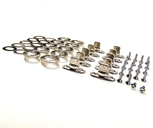 Turn Button Eyelet and Stud, Common Sense Fasteners, 10 Piece Set w/ 1/2