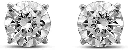 Diamond Jewel 14K Round Diamond 1 Carat TW Stud Earrings