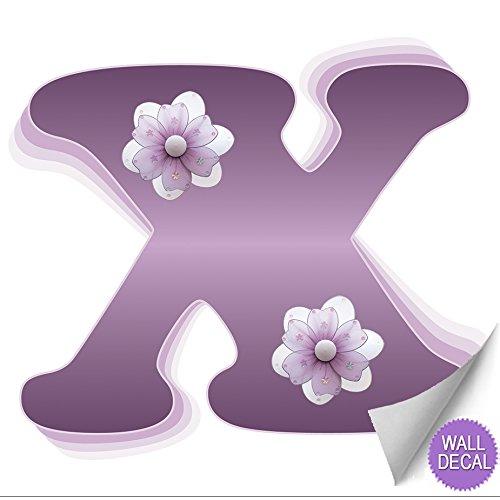 "Purple Tulip Flowers Kitchen Vinyl Wall Stickers Home: Wall Letters ""o"" Purple Flower Letter Stickers Alphabet"