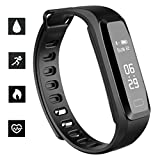 OLSUS Fitness Bracelet Pulsometer Blood Pressure Heart Rate Pedometer Wristband - Black