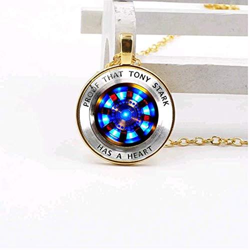 New Iron Man Tony Stark Tibet Silver Glass Dome Necklace Pendant Charm Wholesale