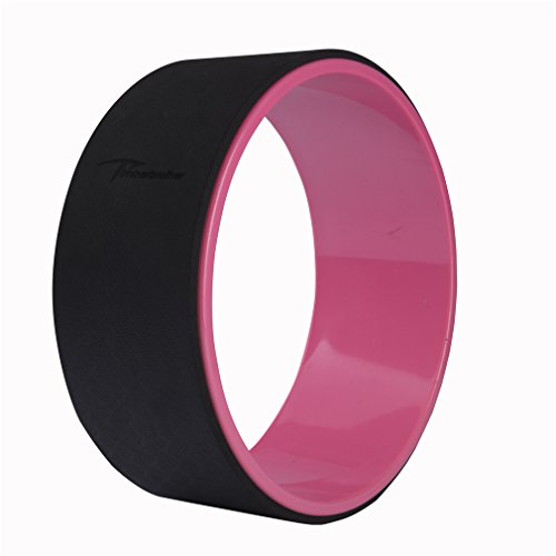 Timberbrother Yoga Wheel for Yoga, Relaxation and Fitness (Black/Pink)