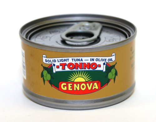 Genova - Italian Solid Light Tuna in Pure Olive Oil, (3) - 3 oz Cans (Tuna Genova)