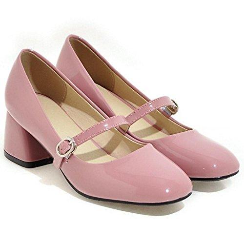 COOLCEPT Women Spring Mary Jane Court Shoes Pink KhQlGLJYQ