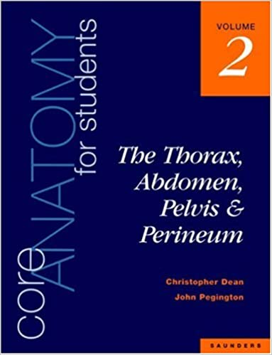 Core Anatomy For Students Vol 2 The Thorax Abdomen Pelvis And