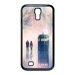 Doctor Who Funda Samsung Galaxy S4 9500 Funda Caja del teléfono celular Negro E1E6BS