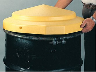 "Eagle 1667 Polyethylene Drum Cover, Open Head, 24"" Diameter x 5"" Height (Case of 6)"