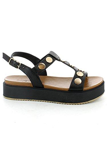 INUOVO 7282 zapatos de las sandalias NEGRO NEGRO