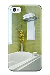 Iphone 4/4s Cover Case - Eco-friendly Packaging(soothing Bathroom With Soft Green Tiles)
