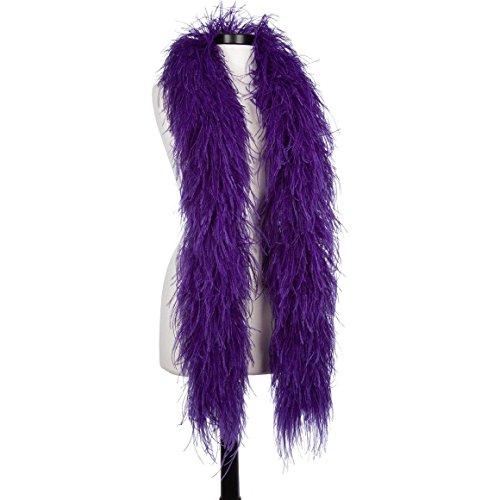 Regal Purple 6 Ply Ultra Ostrich Feather Boas ()
