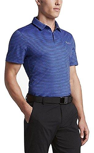 Nike Momentum Fly Dri-FIT Wool Stripe Golf Polo 802836-480 (XL)