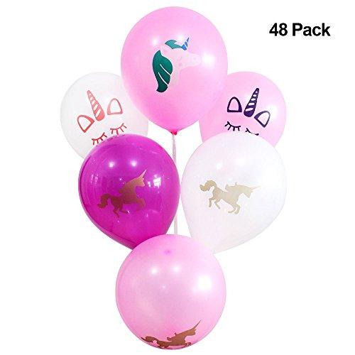 48 Original Unicorn Balloons, Unicorn Party supplies, birthday