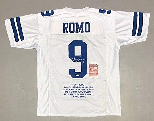 - Signed Tony Romo Jersey - Pro Style Stat W Witness Coa #wpp189580 - JSA Certified - Autographed NFL Jerseys