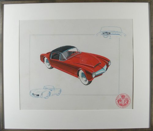 Prototype Sports Car Concept Art by