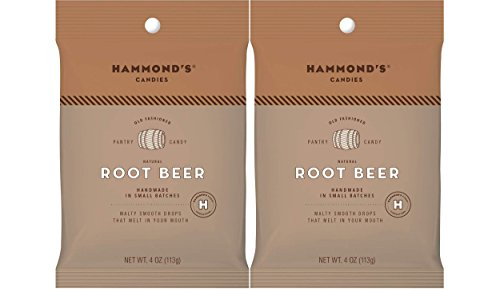 Hammond's Candies Old Fashioned Hard Candy All Natural Drops 4 Ounce bag (Root Beer, ()
