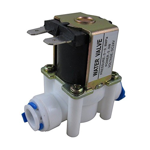 et Feed Water Solenoid Valve Quick Connect for RO Reverse Osmosis (12V 1/4