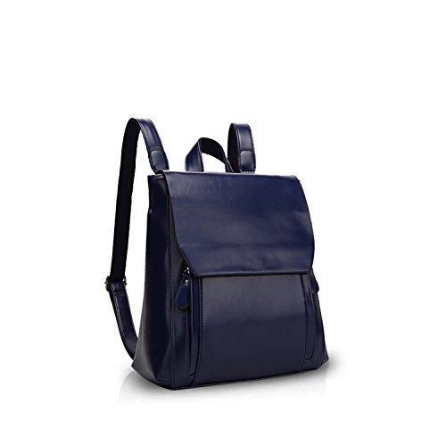 Mode Elegant Blue Pu Durable Backpack Shoulder Nicole Doris Soft Travel New Brown Backpack amp; Bag Bag RwWqWETI1